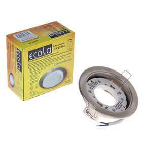 Светильник встраиваемый Ecola, GX53, потолочный, 38x106 мм, цвет сатин-хром