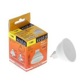 Лампа светодиодная Ecola, GU5.3, 7 Вт, 2800 K, матовое стекло