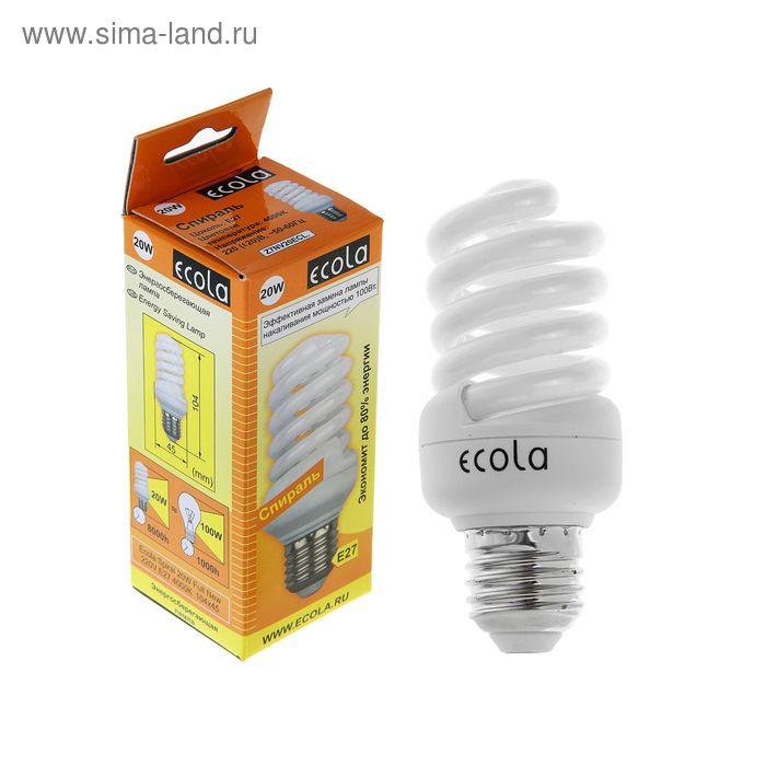 Лампа энергосберегающая Ecola, Е27, 20 Вт, 4000 К