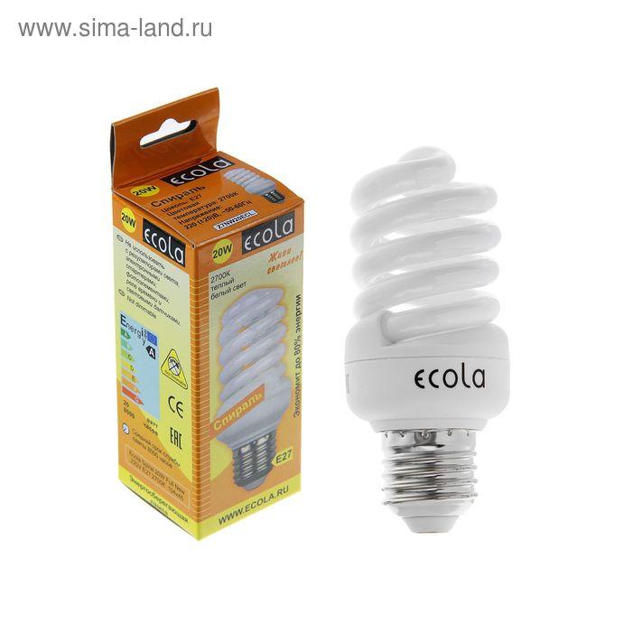 Лампа энергосберегающая Ecola, Е27, 20 Вт, 2700 К