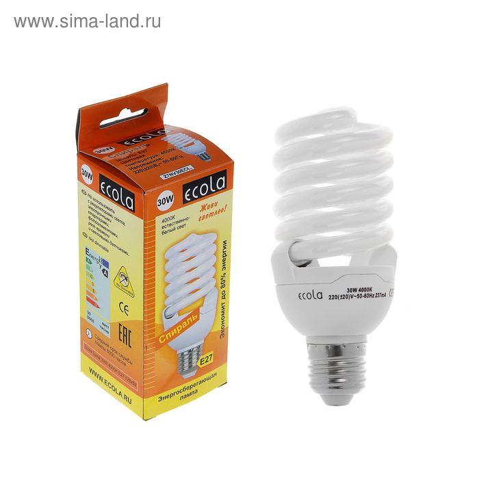 Лампа энергосберегающая Ecola, Е27, 30 Вт, 4000 K