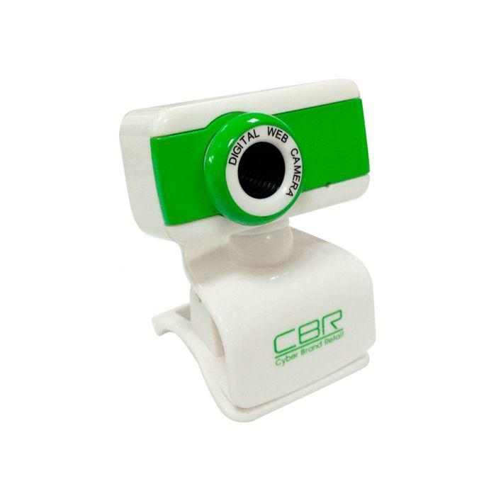 Веб-камера CBR CW-832M Green, 1.3 МП, 1280x1024, 4 линзы, микрофон, бело-зеленая