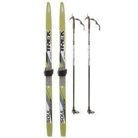 Комплект лыжный TREK Blazzer/Маяк/Валамаз/Снежок (120/85 (+/-5 см), крепление: КМУ 001) МИКС