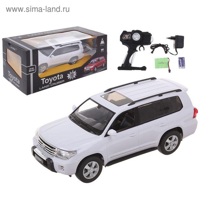 Машина радиоуправляемая TOYOTA LAND CRUISER 200, с аккумулятором, масштаб 1:16, световые эффекты, цвета МИКС