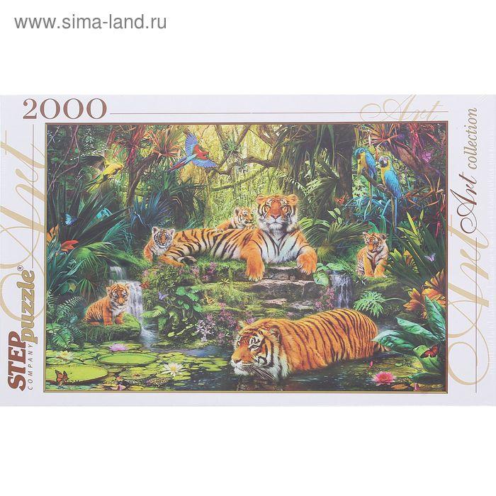 """Пазлы """"В джунглях. Тигры"""", 2000 элементов"""