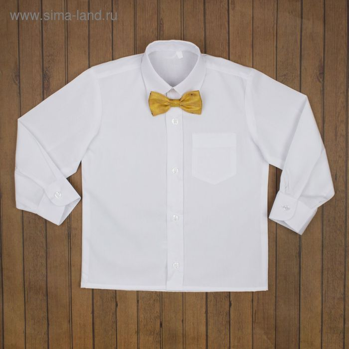 Сорочка нарядная для мальчика, рост 110-116 см (29), цвет белый