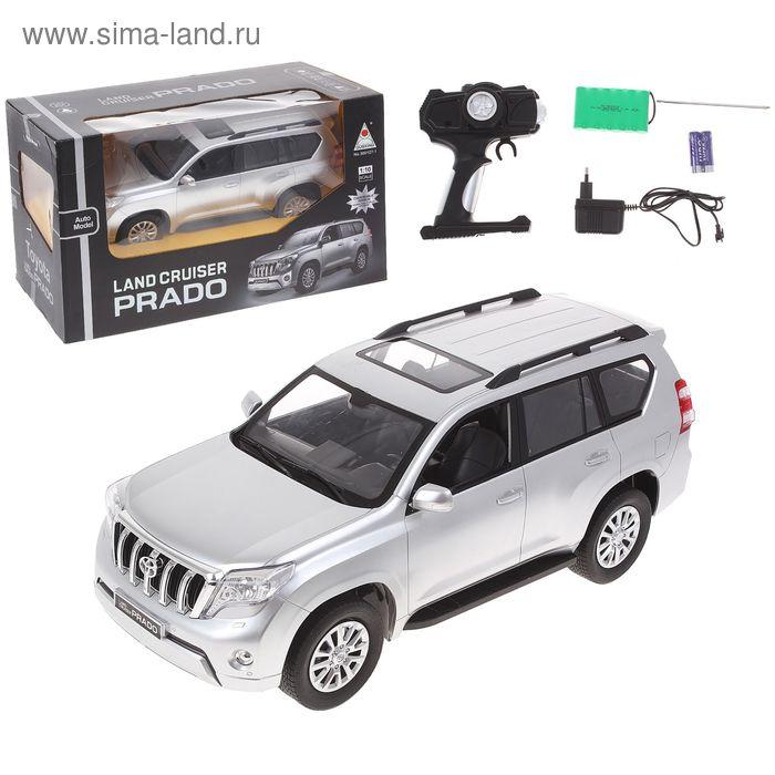 Машина радиоуправляемая TOYOTA LAND CRUISER PRADO, c аккумулятором, масштаб 1:10, световые эффекты, цвета МИКС