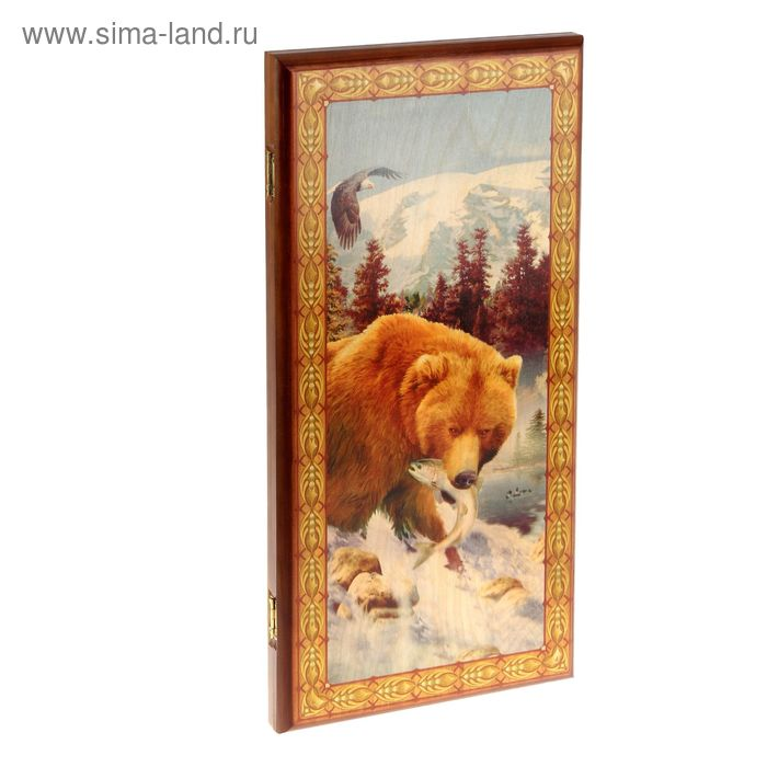 "Нарды-шашки средние ""Медведь"", 50х25х3,5 см"