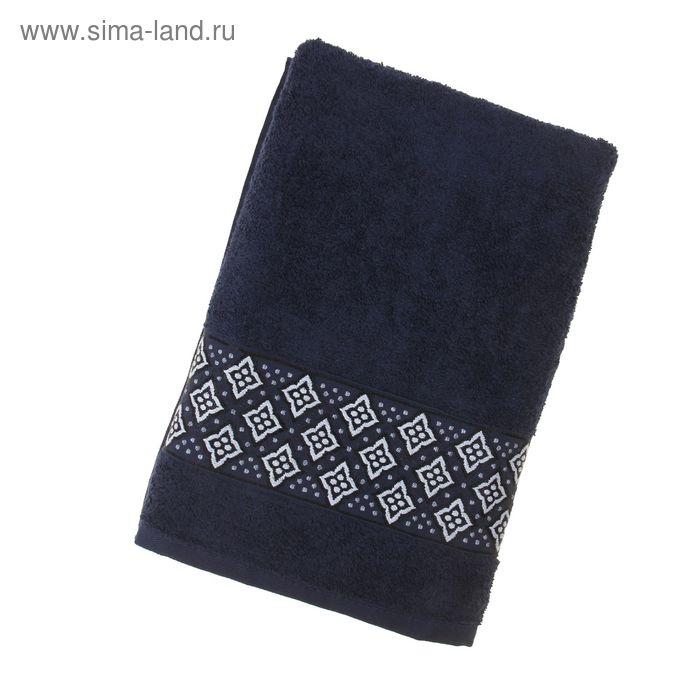 Полотенце махровое TWO DOLPHINS AGENAR 70*140 см Т-Синий, хлопок, 500 гр/м