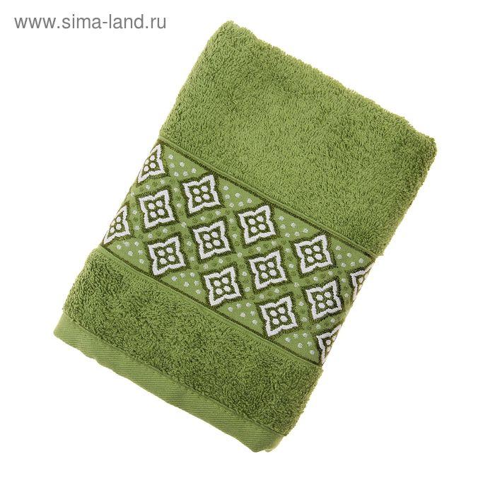 Полотенце махровое TWO DOLPHINS AGENAR 50*90 см Зеленый, хлопок, 500 гр/м