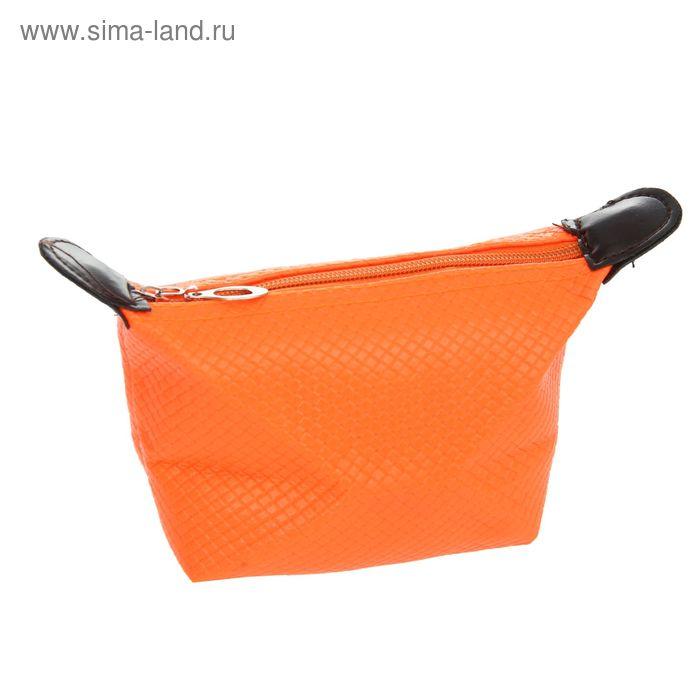 """Косметичка-ассорти """"Неон"""", 1 отдел, на молнии, цвет оранжевый"""