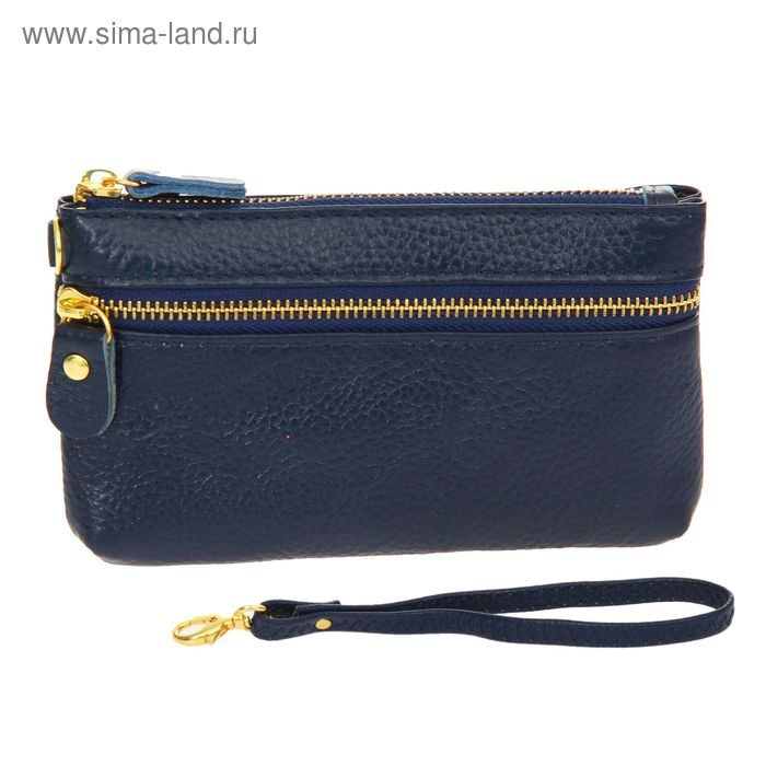 """Кошелёк женский """"Диана"""", 1 отдел, 1 наружный карман, с ручкой, синий"""
