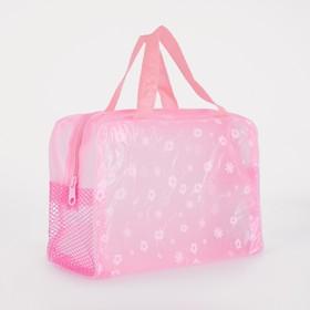 Косметичка банная на молнии 'Розы', 1 отдел, 2 ручки, цвет розовый Ош
