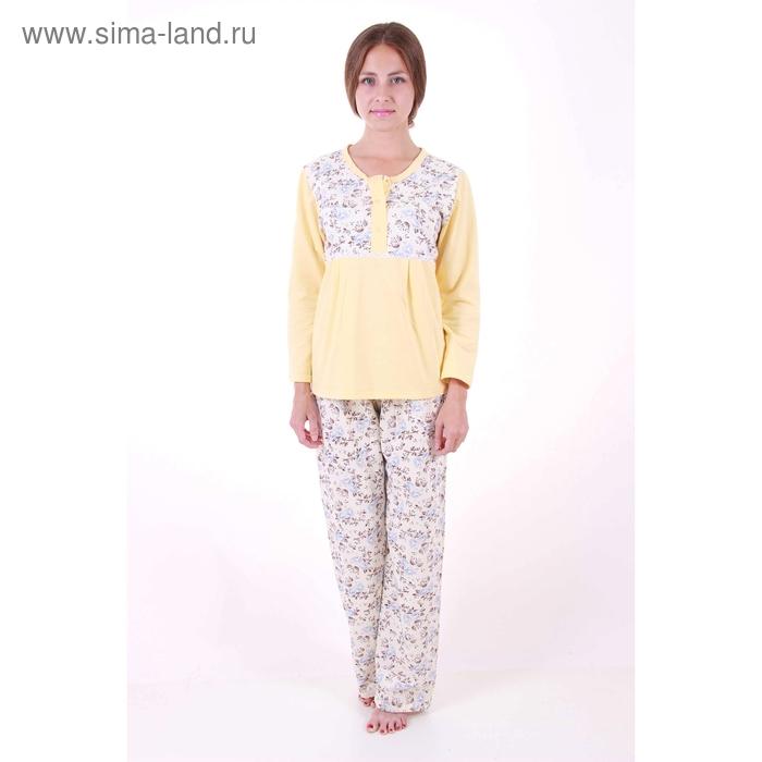 Пижама женская (фуфайка, брюки) Лола желтый, р-р 56