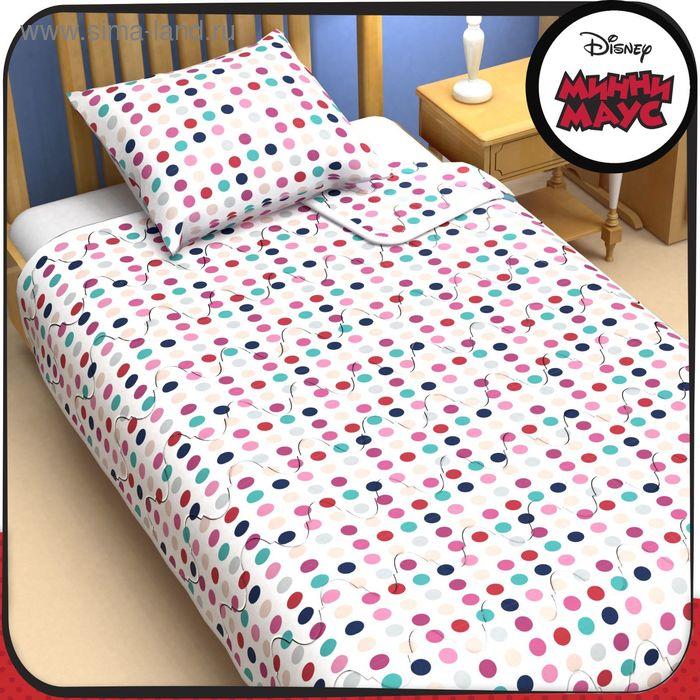 """Одеяло 1,5 сп """"Минни Маус"""" 140*205 см файбер, поплин, 200 г/м2"""