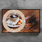 "Часы-картина ""Coffee"", 37х60 см"