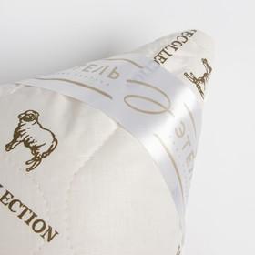 """Подушка """"Этель"""", подстёжка — овечья шерсть, 50х70 см, тик"""