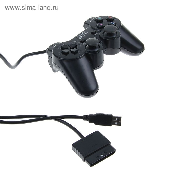 Геймпад CBR для PC/PS2/PS3 CBG 950, проводной, 2 вибро мотора, 12 кнопок, USB