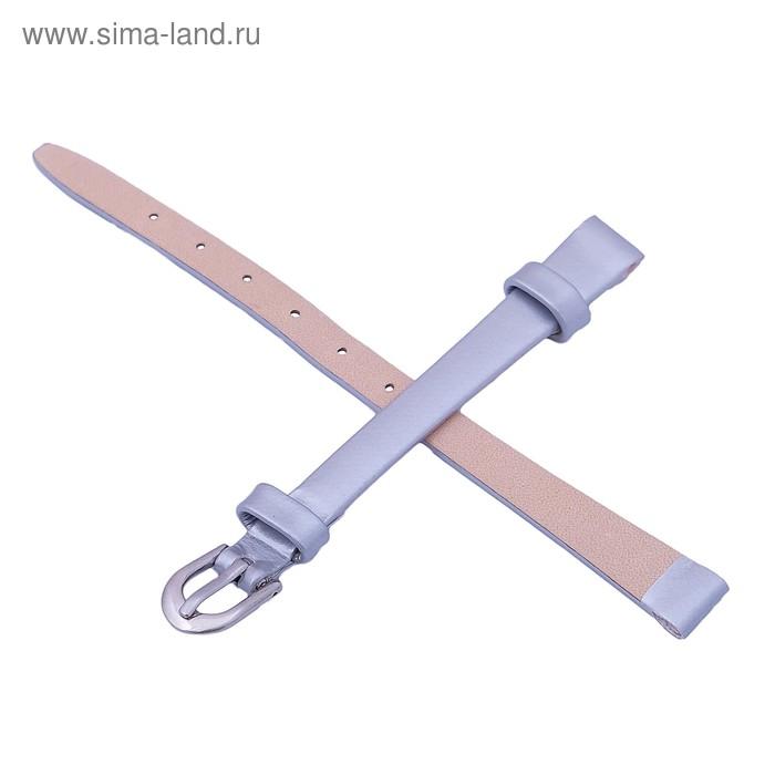 Ремень кожаный женский, присоед. р-р 8 мм, серый