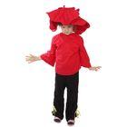 """Карнавальный костюм """"Мак"""", шляпа, кофта, брюки, 5-7 лет, рост 122-134 см"""