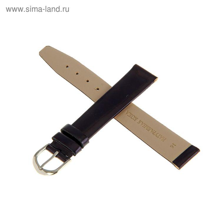 Ремень кожаный присоед. р-р 16 мм, синий