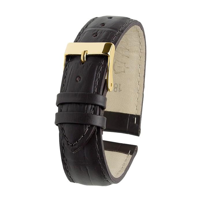 Ремень кожаный, присоед. р-р 18 мм, отделка питон, темно-коричневый, удлиненный   1182170