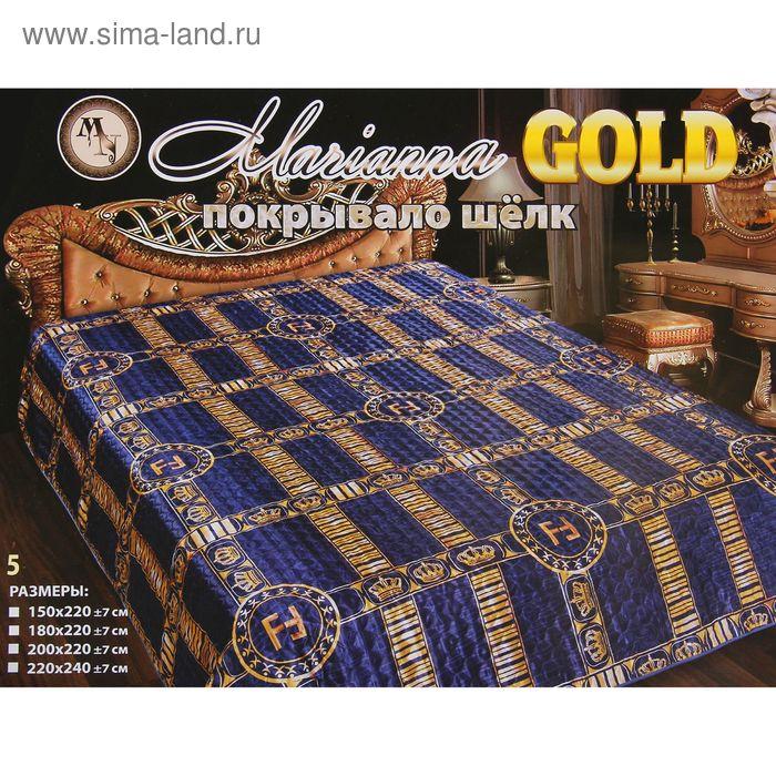 Покрывало шелк Marianna ГОЛД рис.5 200х220 см, искус.шелк 100% п/э
