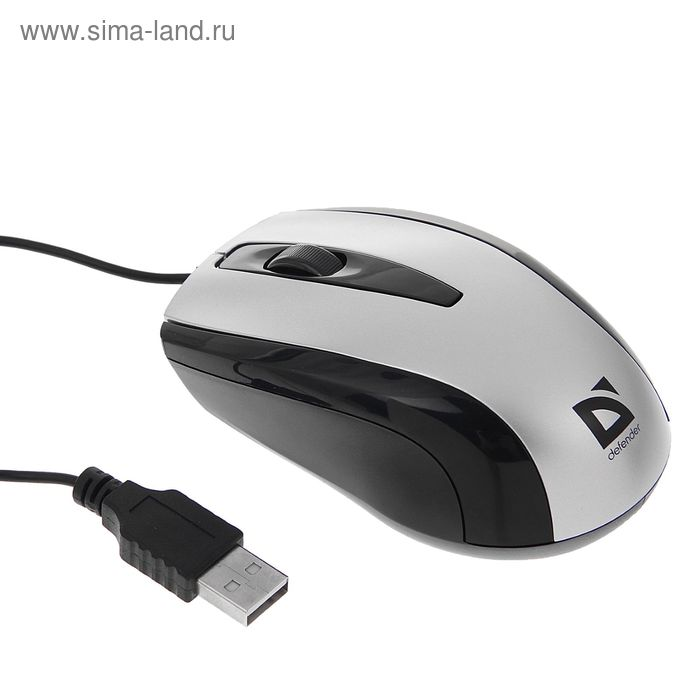 Мышь DEFENDER Optimum MM-140, оптическая, проводная, 800 dpi, провод 1.5 м, 3 кнопки, серая