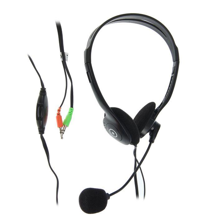 Гарнитура DEFENDER Aura HN-102, кабель 1.8 м, чёрная