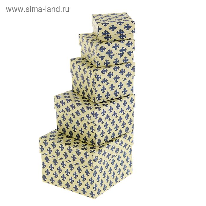 "Набор коробок 5 в 1 ""Лилии синие"""