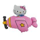 "Шар фольгированный 12"" Hello Kitty ""Самолёт"" для палочки"