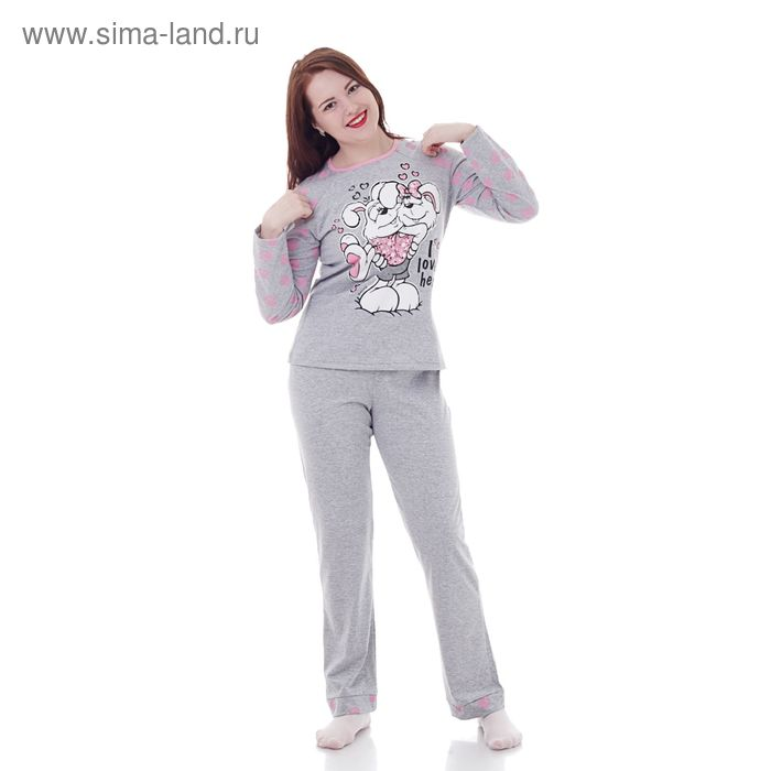 Комплект женский (фуфайка, брюки) М310 МИКС, р-р 46 кулирка
