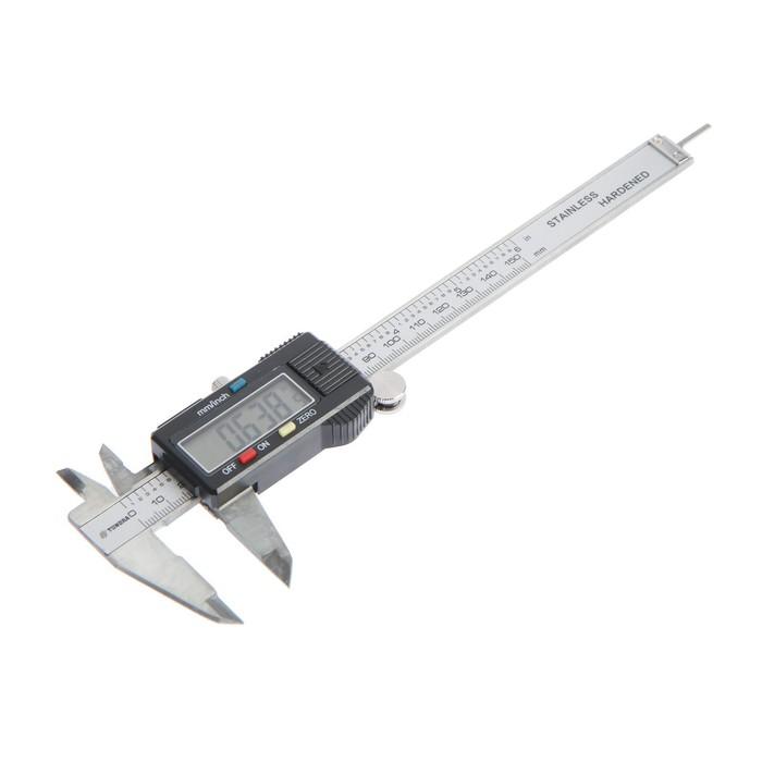 Штангенциркуль электронный TUNDRA comfort, 150 мм, с глубиномером