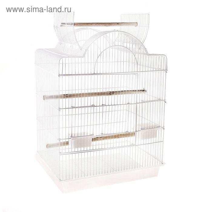 Клетка для птиц с открывающейся крышей, 47 х 36 х 75 см