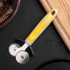 """Нож для пиццы и теста """"Бистро"""" 18 см, двойной, цвета МИКС"""