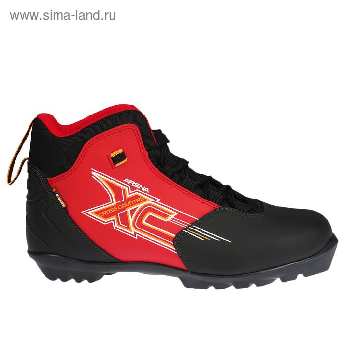 Ботинки лыжные TREK Арена NNN ИК, цвет чёрный, лого красный, размер 38