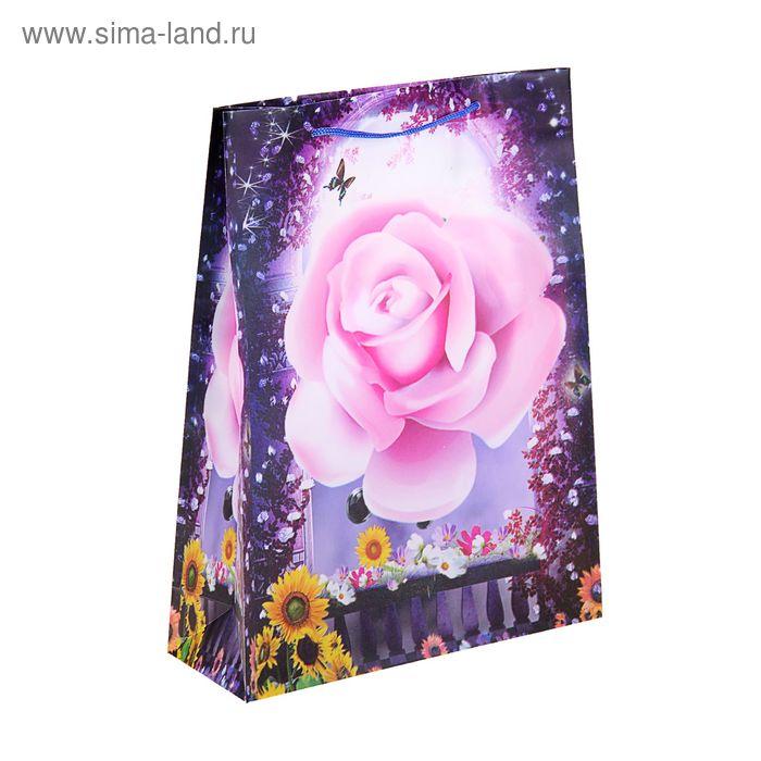 """Пакет пластиковый """"Роза и подсолнухи"""""""