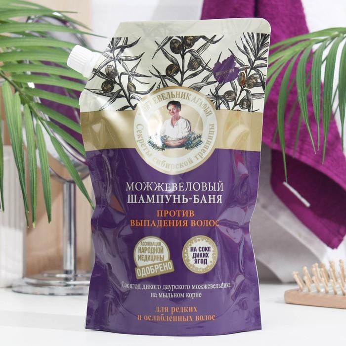 Шампунь-баня Рецепты бабушки Агафьи против выпадения волос, можжевеловый, 500 мл