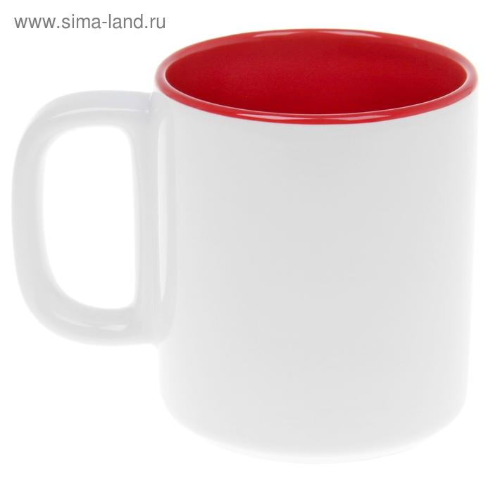 Кружка 280 мл двухцветная, цвет красный