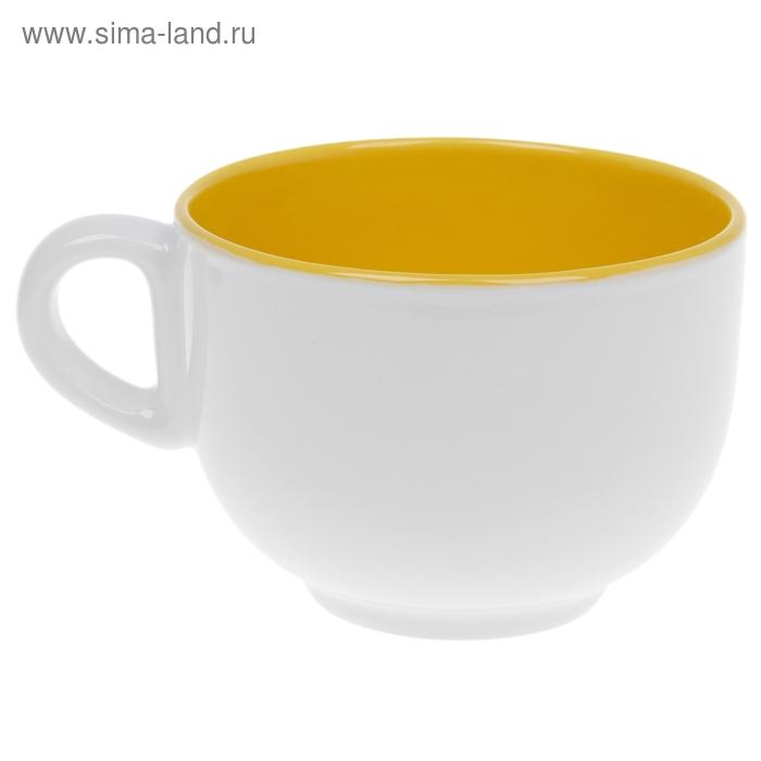 "Бульонница 300 мл ""Двухцветная"", цвет желтый"