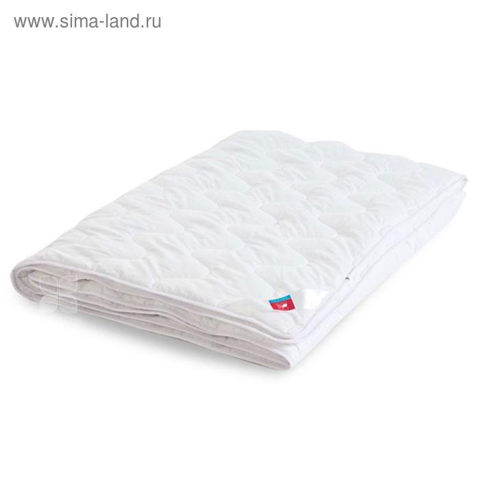 Одеяло стеганое Перси 172х205 см легкое 200 гр/м, искус.лебяжий пух, микрофибра белый