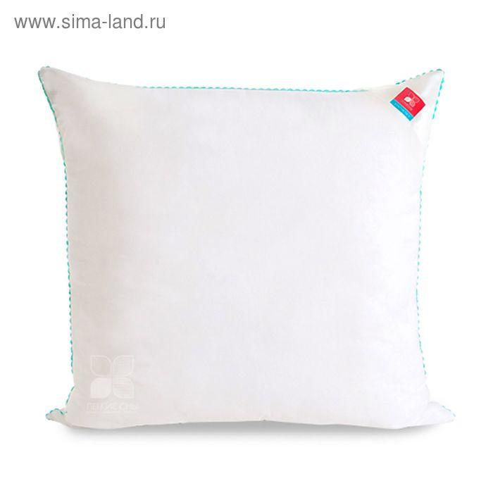 Подушка Перси мягкая 68х68 см, искус.лебяжий пух, микрофибра белый