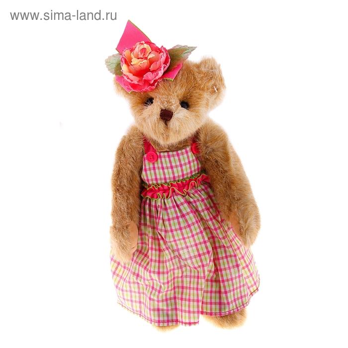 Мягкая игрушка «Мишка Bearington» в клетчатом платье