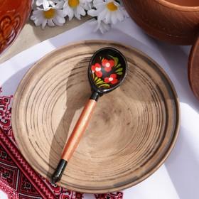 Ложка деревянная «Чернушка», детская, хохлома, микс
