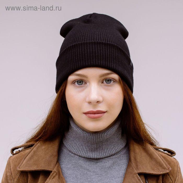 """Шапка молодежая """"ФРИДЕЙ"""", размер 56-58, цвет черный 170765"""
