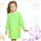 """Платье для девочки с длинным рукавом """"Петунии"""", рост 98 см (28), цвет зелёный"""