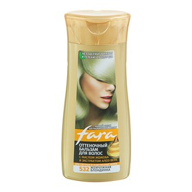 Бальзам оттеночный для волос Fara, тон 532, жемчужная блондинка, 135 мл