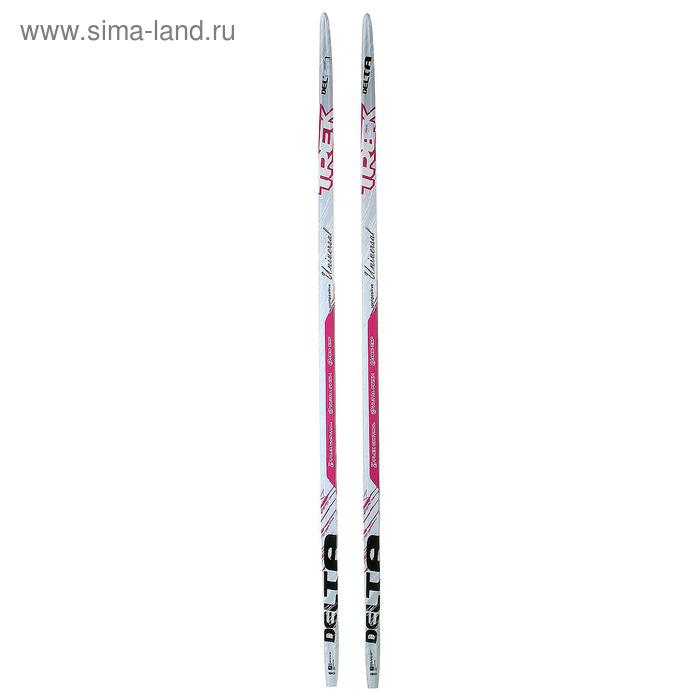 Лыжи пластиковые TREK Delta (Step, 190 см, цвет: розовый)