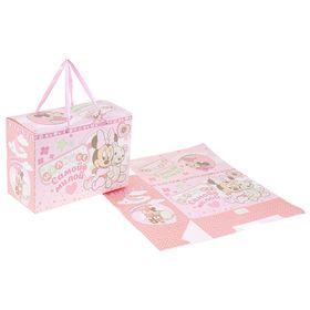 """Коробка подарочная складная """"Самой милой малышке"""": Минни Маус, Дисней Беби, + мини-открытка"""