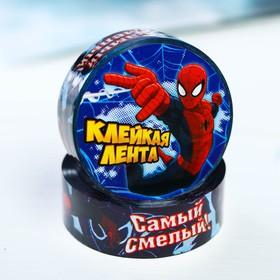 """Декоративная клейкая лента пластиковая """"Самый смелый"""", Человек-паук, 1,5 см х10 м"""